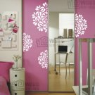 Wall decals and vinyl wall art -half flower ball for bed decal sticker