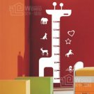 "Wall decals and vinyl wall art -giraffe height chart 2 decal sticker 39"" *18"""