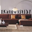 "Wall decals and vinyl wall art -dancing character decal sticker 74""*12"""