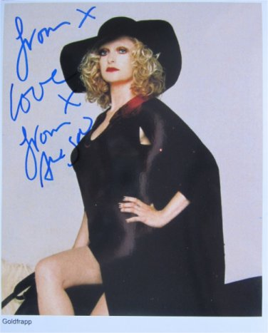SUPERB GOLDFRAPP SIGNED PHOTO + COA!!!