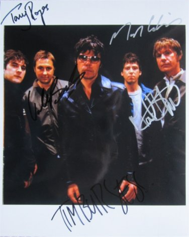 SUPERB CHARLATANS SIGNED PHOTO + COA!!!