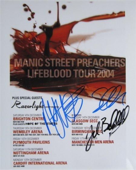 SUPERB MANIC STREET PREACHERS SIGNED PHOTO + COA!!!
