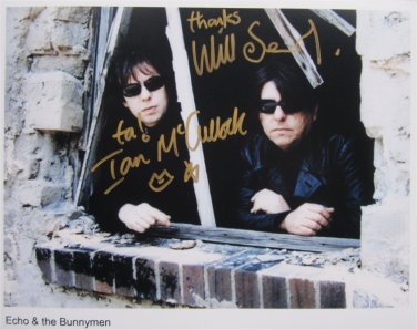 SUPERB ECHO AND THE BUNNYMEN SIGNED PHOTO + COA!!!