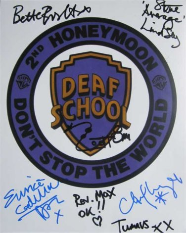 SUPERB DEAF SCHOOL SIGNED PHOTO + COA!!!