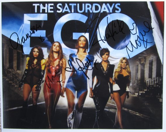 SUPERB THE SATURDAYS SIGNED PHOTO + COA!!!