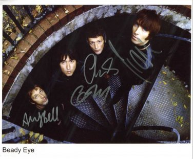 SUPERB BEADY EYE SIGNED PHOTO + COA!!!