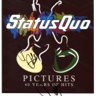SUPERB STATUS QUO SIGNED PHOTO + COA!!!