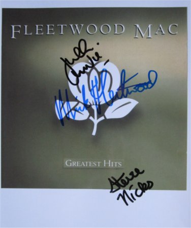 SUPERB FLEETWOOD MAC SIGNED PHOTO + COA!!!