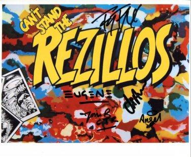 SUPERB REZILLOS SIGNED PHOTO + COA!!!