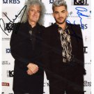 SUPERB BRIAN MAY / ADAM LAMBERT SIGNED PHOTO + COA!!!