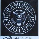 SUPERB RAMONES SIGNED PHOTO + COA!!!