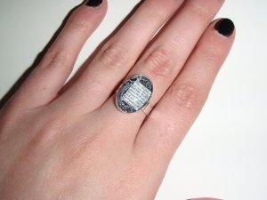 Beware the Jabberwock adjustable ring