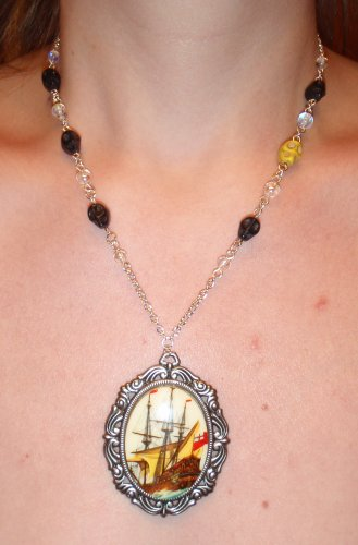 The seas be ours and by the powers, Where we will, we'll roam--Pirate Necklace