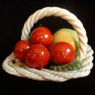 Realistic Glass Fruit Basket Cherries Lemon