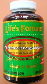 Life's Fortune Multi-Vitamin & Mineral - 180 Tab