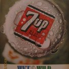 7up 1967 Authentic Bottle Cap Print Ad