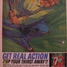 7up 1964 Authentic Golf Print Ad