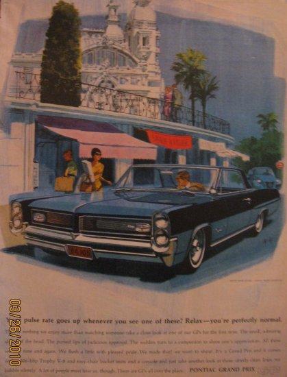 Pontiac Grand Prix 1963 Authentic Print Ad
