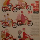 Honda Motorcycle 1963 Authentic Print Ad