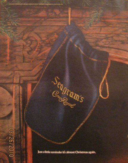 Seagram's Crown Royal 1972 Authentic Print Ad