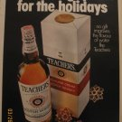 Teachers Whiskey 1972 Authentic Print Ad