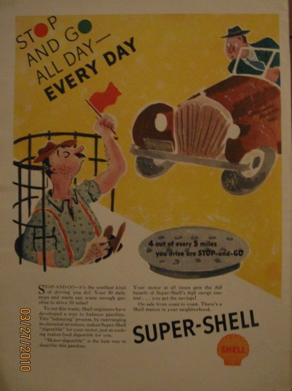 Shell Gas 1937 Authentic Print Ad