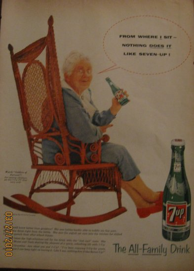 7up 1955 Authentic  Print Ad