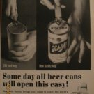 Schlitz Beer 1962 Authentic Print Ad
