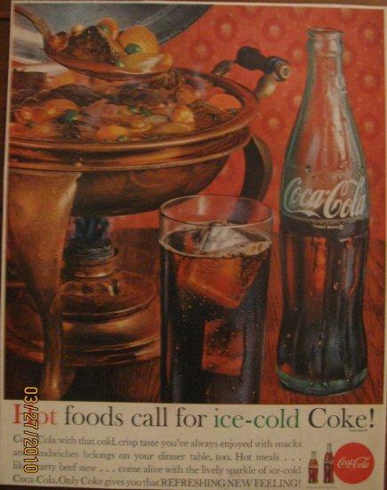 Coca-Cola 1962 Authentic Print Ad