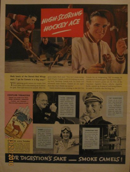 Camels Cigarettes Herb Lewis 1937 Authentic Print Ad