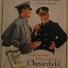 Chesterfield Cigarettes 1937 Authentic Print Ad