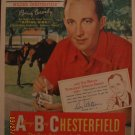 Chesterfield Cigarettes Bing Crosby 1955 Authentic Print Ad
