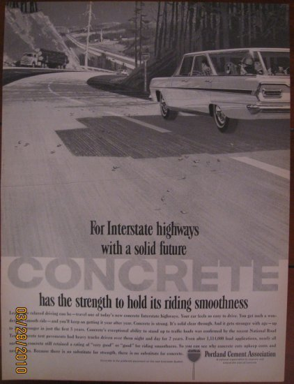 Portand Cement 1962 Authentic Print Ad