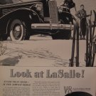 LeSalle Cadillac 1937 Authentic Print Ad