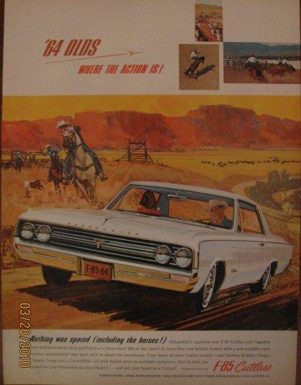 Oldsmobile F-85 Cutlass 1963 Authentic Print Ad