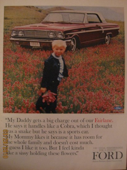 Ford Fairlane 1963 Authentic Print Ad