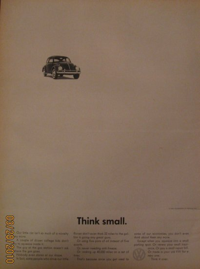 Volkswagen Beetle 1962 Authentic Print Ad