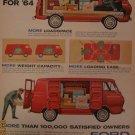 Ford Econoline Van 1963 Authentic Print Ad