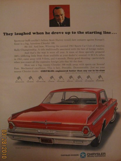 Chrysler 300 1972 Authentic Print Ad