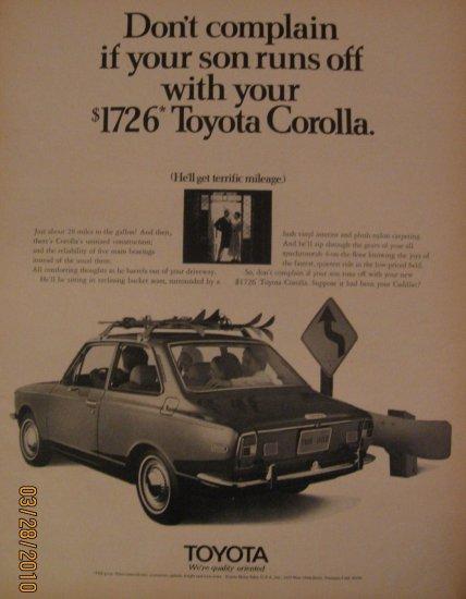 Toyota 1970 Authentic Print Ad