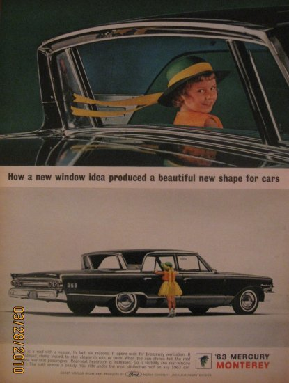 Mercury Monterey 1962 Authentic Print Ad