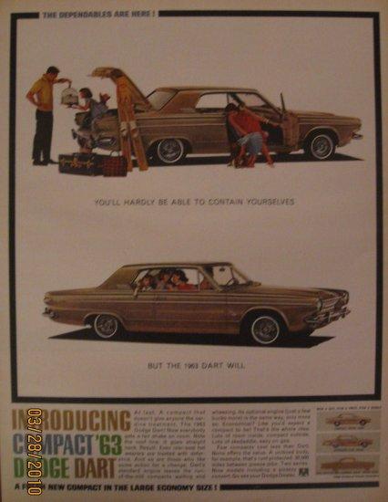 Dodge Dart  1962 Authentic Print Ad