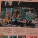 Ford Econoline Van 1962 Authentic Print Ad