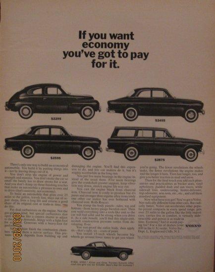 Volvo 1962 Authentic Print Ad