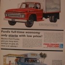 Ford Truck 1961 Authentic Print Ad