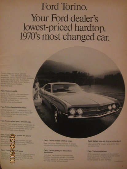 Ford Torino 1961 Authentic Print Ad