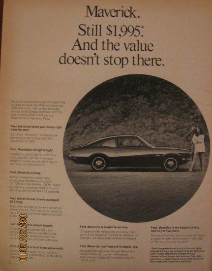 Ford Maverick 1961 Authentic Print Ad