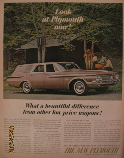 Plymouth 1961 Authentic Print Ad