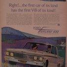 Ford Fairlane 500 1961 Authentic Print Ad