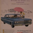 Oldsmobile Cutlass F-85 1962 Authentic Print Ad